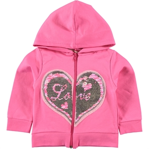 Pengim Fuchsia Hooded Cardigan Girls Age 1-4 (1)