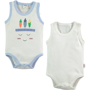 Civil Baby Baby 2-0-12 months bodysuit with snaps, blue
