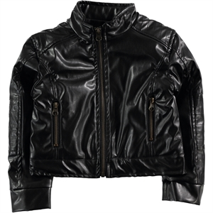Civil Boys Boy's Leather Coat Black 6-7 Years