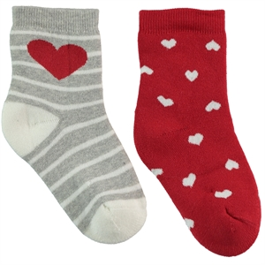 Civil Girl 2-gang Socket Grey Sock 3-11 years