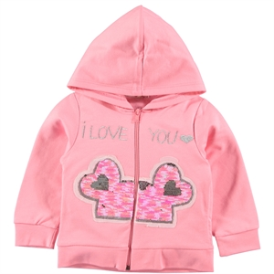 Üstün Rich Girl Pink Hooded Cardigan Age 1-4
