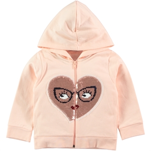 Pengim Salmon Hooded Cardigan Girls Age 1-4