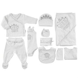 Minidamla Newborn baby girl White Kit 10 Zibin