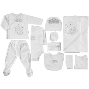 Minidamla Newborn White baby boy Kit 10 Zibin