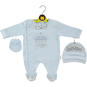 Minidamla Oh Baby Boy Overalls 0-3 Months Blue Baby Booty