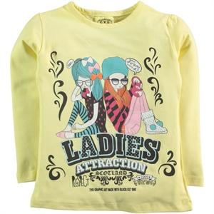 Civil Girls Age 6-9 Yellow Girl Kids Sweatshirt