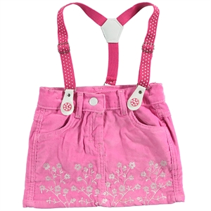 Minia 2-5 Years Boy Girl Suspenders Skirt Fuchsia