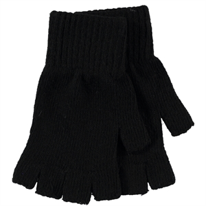 Slayt 9-13 Years Children's Cut Finger Gloves Black