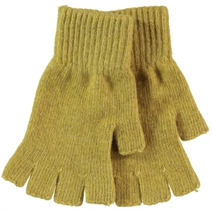 Slayt 9-13 Years Children's Cut Finger Gloves Yellow