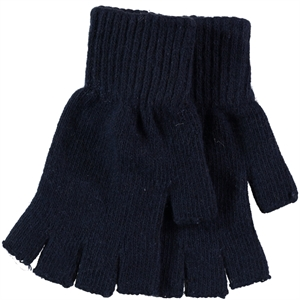 Slayt 9-13 Years Children's Cut Finger Gloves Navy Blue