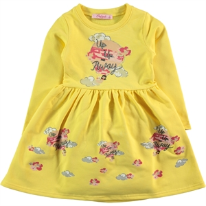 Civil Girls Yellow Girl Dress For 2-5 Age