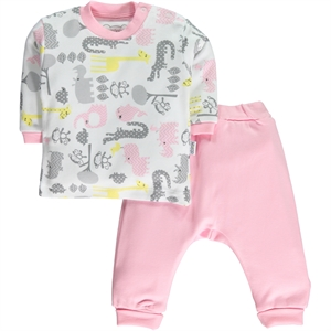 Minidamla Your Team Is 3-12 Months Baby Pajamas Pink Albim