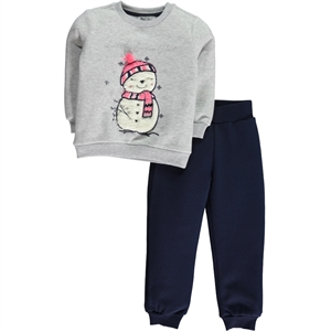 Cvl 2-5 Years Boy Girl Gray Sweat Suit
