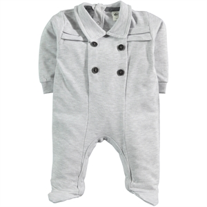 Civil Baby Oh Baby 0-6 Months Gray Baby Boy Overalls Booty