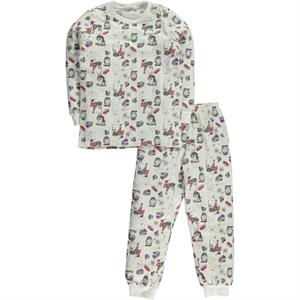 Civil Girls Kız Çocuk Pijama Takımı 6-9 Yaş Ekru