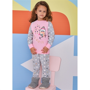 Roly Poly A Pajama Outfit Pink Girl 5-8 Years