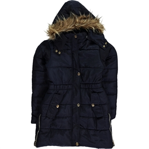 Civil Boys Civil Girls Girls Age 10-13 Navy Blue Hooded Coat