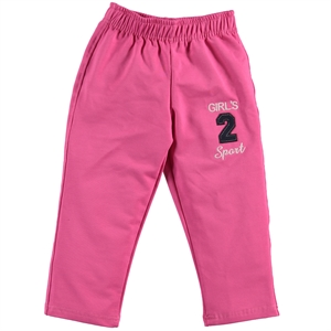 Civil Girls 2-5 Years Old Girl Sweatpants Fuchsia