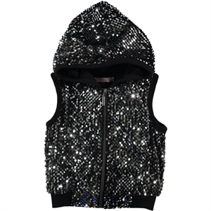 Haliş Black Girl Vest Child Age 6-9