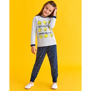 Looney Tunes Gray Tweety Pyjama Girl Age 3-8 Team