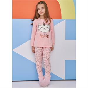 Roly Poly Age 1-4 Girl Pink Pajama Team