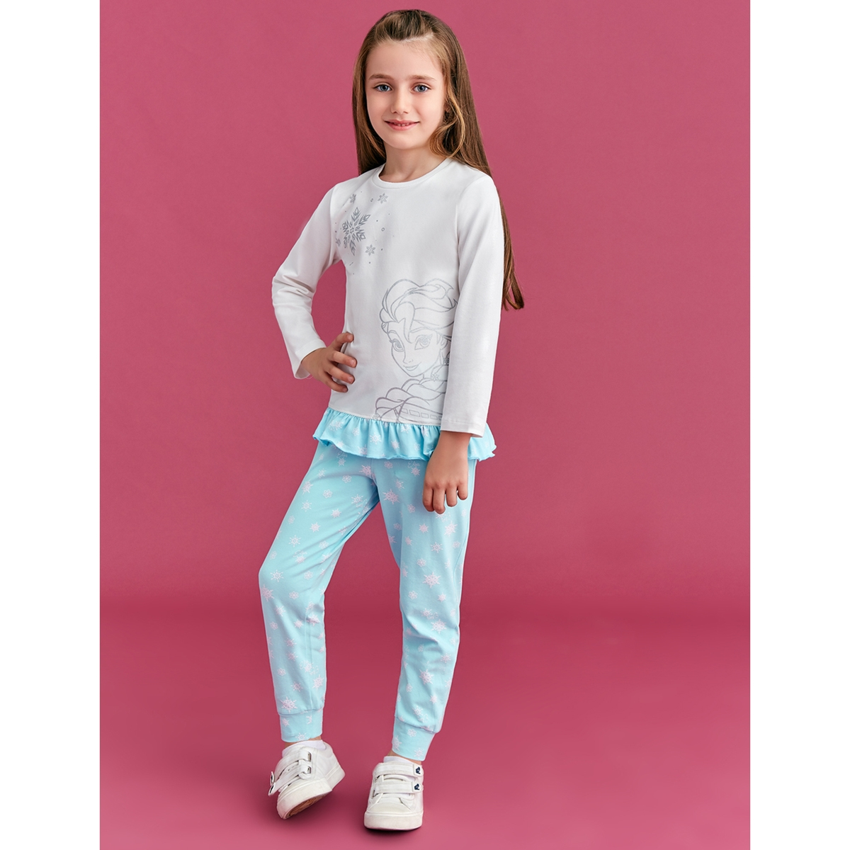 Frozen Ecru Pyjama Girl Age 3-8 Team
