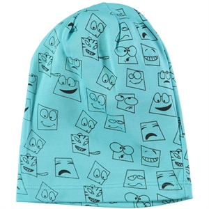 Albimama Children's Combed Cotton Turquoise Beanie 2-5 Years