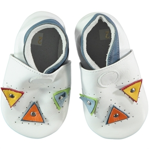 Funny Baby Men's White Leather Baby Booties For 16-19 Number (1)