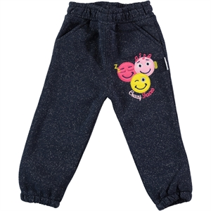 Gülücük 2-5 Years Boy Girl Tracksuit Bottom Navy Blue