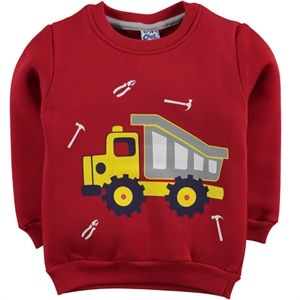 Civil Boys Red Sweatshirt Boy 2-5 Years
