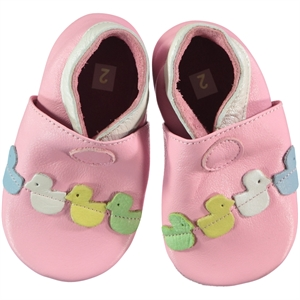 Funny Baby Booties Pink Leather Baby Girl 16-19 Number (1)