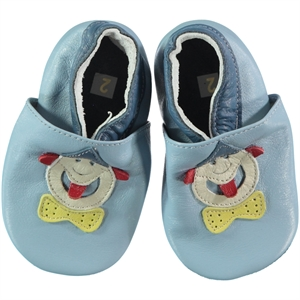 Funny Baby Men's Blue Leather Baby Booties For 16-19 Number