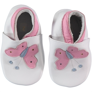 Funny Baby White Baby Girl Leather Booties 16-19 Number