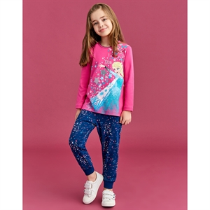 Disney Frozen Girl Pajama Fuchsia 3-8 Age Team