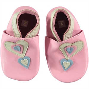 Funny Baby Booties Pink Leather Baby Girl 16-19 Number