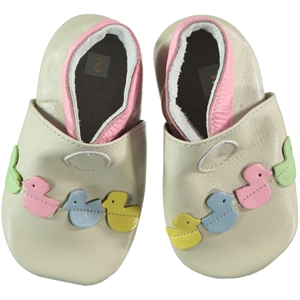 Funny Baby Baby Girl Beige Leather Booties 16-19 Number (1)