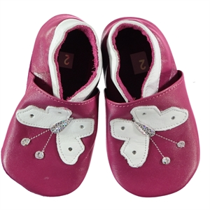 Funny Baby Baby Girl Purple Leather Booties 16-19 Number