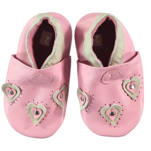 Funny Baby Kız Bebek Deri Patik 16-19 Numara Pembe