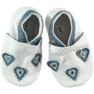 Funny Baby White Baby Girl Leather Booties 16-19 Number (1)