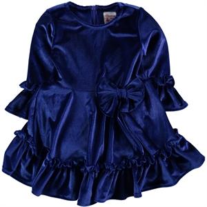 Missiva Kız Çocuk Elbise 6-9 Yaş Saks Mavisi