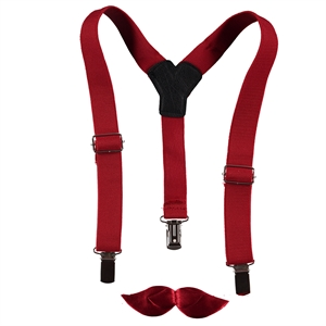 Minidamla 1-7 Age Boy In Red Suspenders Kit