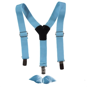 Minidamla The Ages Of 1-7 Turquoise Boy Suspenders Kit