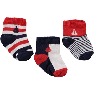 Civil Baby Baby boy 3-Red Socks 0-12 months
