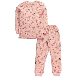 Cvl Kız Çocuk Pijama Takımı 6-9 Yaş Pudra
