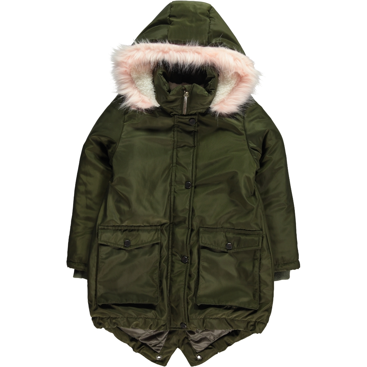Civil Girls Girl Khaki Hooded Jacket Age 6-9