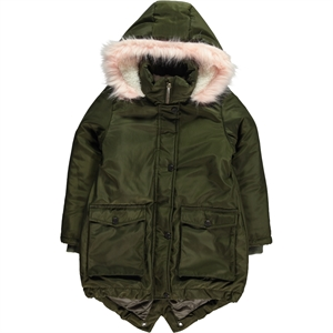 Civil Girls Girl Khaki Hooded Jacket Age 6-9