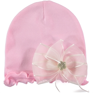 Kujju Pink Combed Cotton Hat 0-6 Months