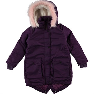 Civil Girls Hooded Jacket Age 6-9 Girl Purple