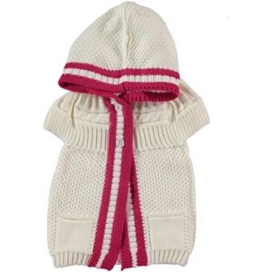 Civil Girls Girl Hooded Vest Ecru 1-5 Years