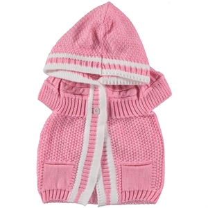 Civil Girls Girl Pink Hooded Vest 1-5 Years